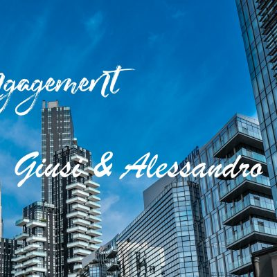 Piazza AULENTI MILANO – ENGAGEMENT GIUSI & ALESSANDRO